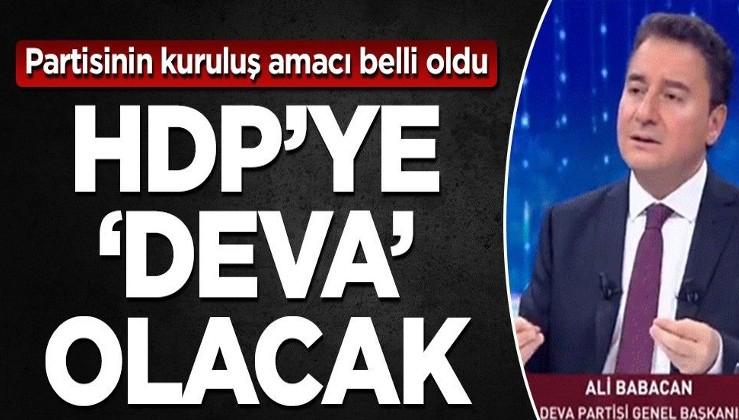 Partisinin kuruluş amacı belli oldu HDP'ye 'Deva 'olacak