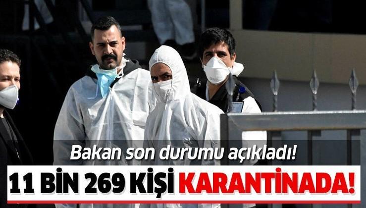 Son dakika: Gençlik ve Spor Bakanı Kasapoğlu açıkladı:11 bin 269 vatandaş karantinada.