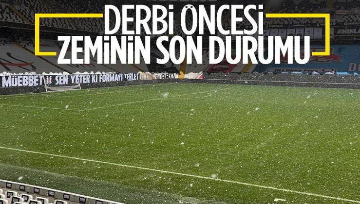 Beşiktaş - Galatasaray derbisi öncesi Vodafone Park'ta son durum ne? İstanbul'daki kar yağışı...
