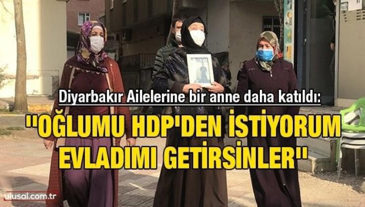 Diyarbakır Ailelerine bir anne daha katıldı: ''Oğlumu HDP'den istiyorum. Evladımı getirsinler''