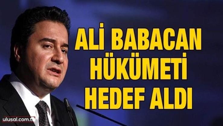 Ali Babacan Tunceli'ye Dersim dedi, MHP'ye saldırdı