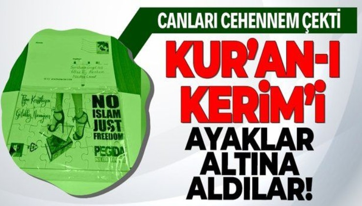 İşte Batı bu! Hollanda'da İslam düşmanı PEGIDA hareketi Kur'an-ı Kerim'i hedef aldı