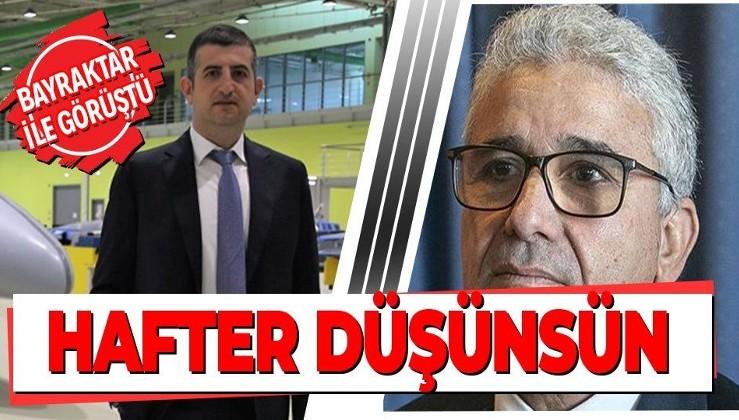 Libya İçişleri Bakanı Fethi Başağa, Baykar Genel Müdürü Haluk Bayraktar'la görüştü