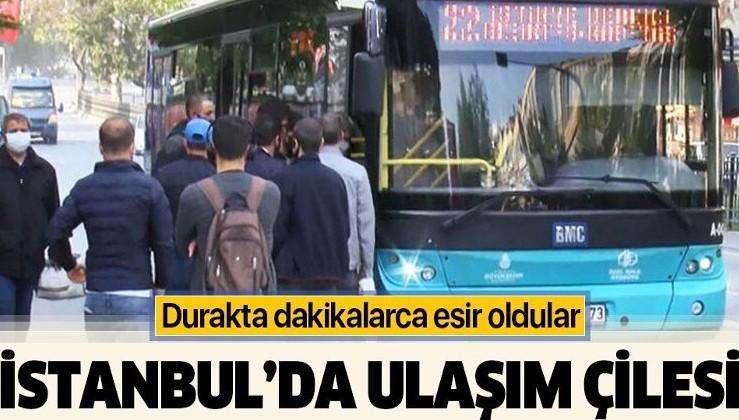 Kısıtlamanın ardından İstanbul'da toplu ulaşımda yoğunluk yaşandı