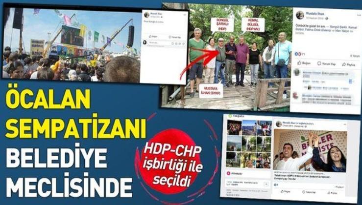 Öcalan sempatizanı CHP'li Mustafa İlhan belediye meclisinde.