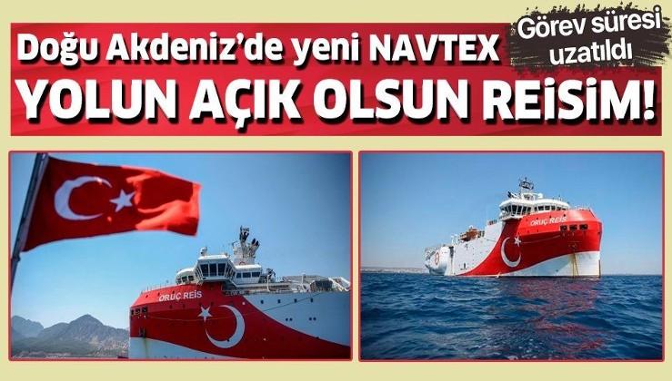 Son dakika: Oruç Reis sismik araştırma gemisi için yeni NAVTEX: Doğu Akdeniz'deki çalışma süresi uzatıldı