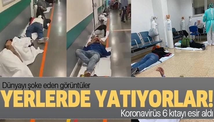 Hastalar yerlerde yatıyor!