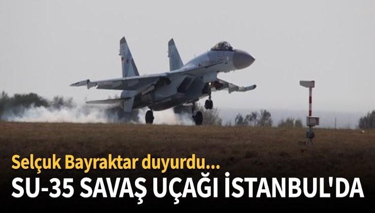 SU-35 savaş uçağı İstanbul'da!