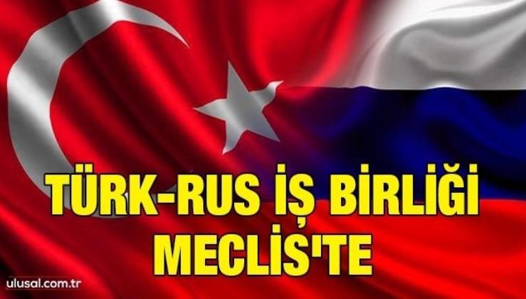 Türk-Rus iş birliği Meclis'te
