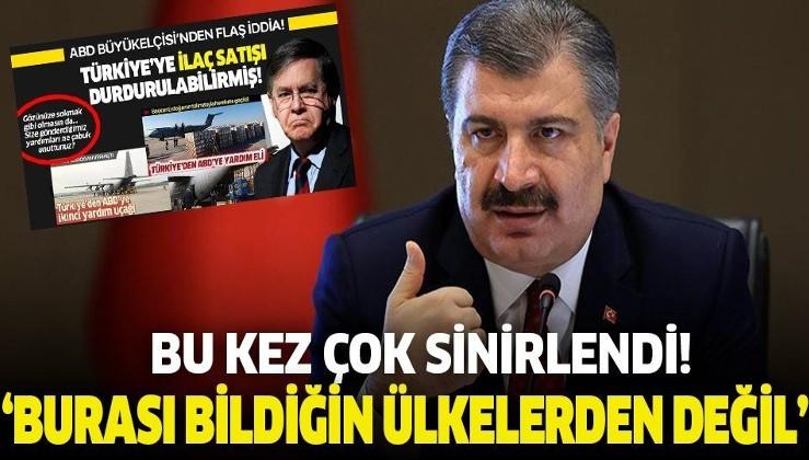 Sağlık Bakanı Koca'dan Türkiye'yi tehdit eden ABD Büyükelçisi'ne sert cevap!