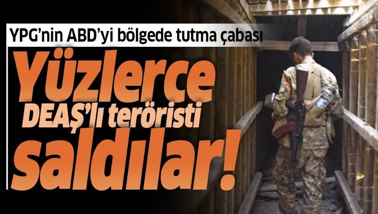 Terör örgütü YPG/PKK, DEAŞ'lıların kampından yüzlerce kişiyi daha serbest bıraktı.