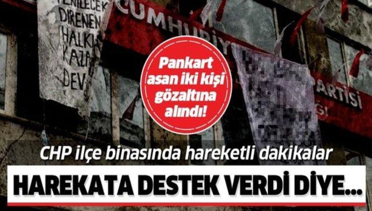 CHP Şişli İlçe Başkanlığı'nda Barış Pınarı Harekatı protestosu!.