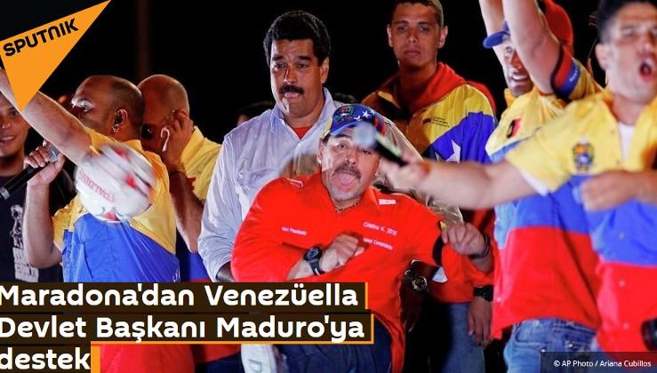 Maradona'dan Venezüella Devlet Başkanı Maduro'ya destek