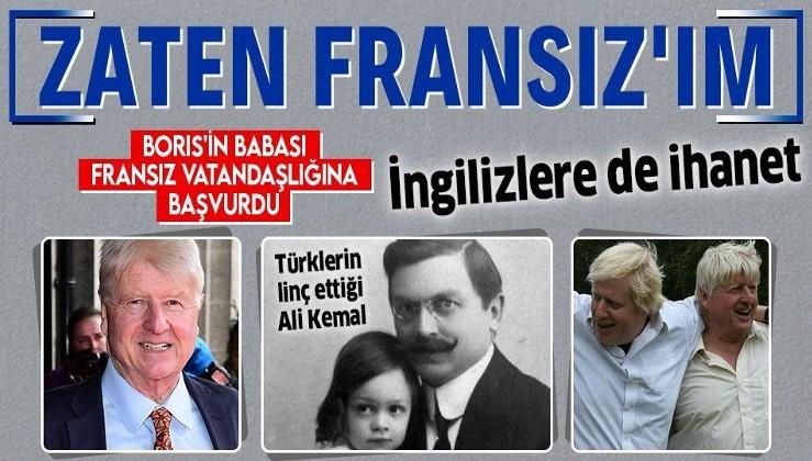 Türk kökenli İngiltere Başbakanı Boris Johnson'ın babası Stanley Johnson, Brexit'in sona ermesine saatler kala Fransız vatandaşlığına başvurdu: Yanılmıyorsam zaten Fransız'ım