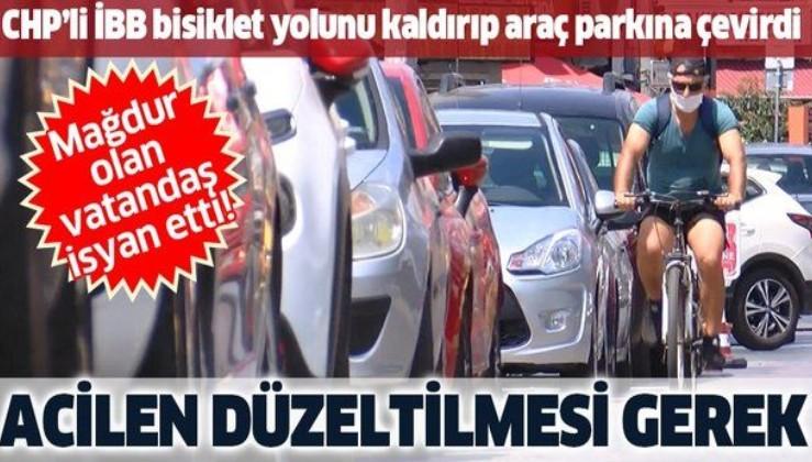 Kadıköy'de vatandaşlardan İBB'ye bisiklet yolu tepkisi