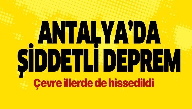 SON DAKİKA: Antalya'da AFAD verilerine göre 5.2 Kandilli verilerine göre 5.4 büyüklüğünde bir deprem meydana geldi