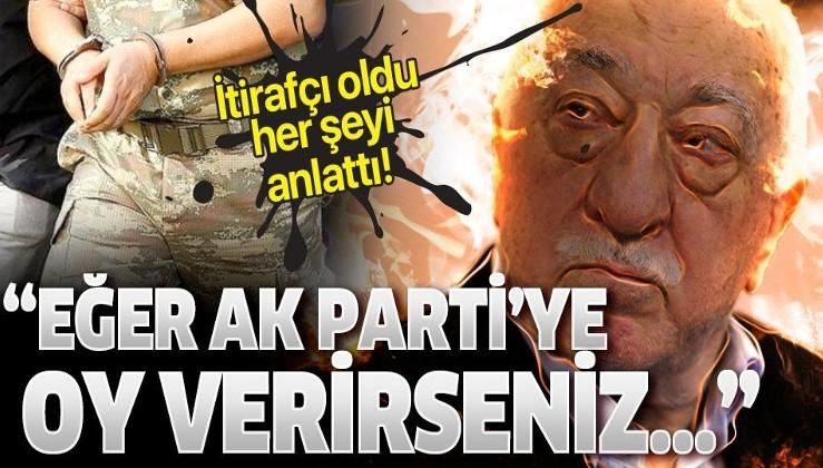 """FETÖ itirafçısı oldu her şeyi anlattı: AK Parti'ye oy verirseniz...""""."""