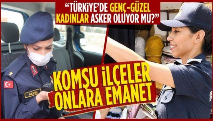 Görenler şaşkınlıklarını gizleyemiyor! Nevşehir ve Kayseri'de iki komşu ilçe iki kadın teğmene emanet