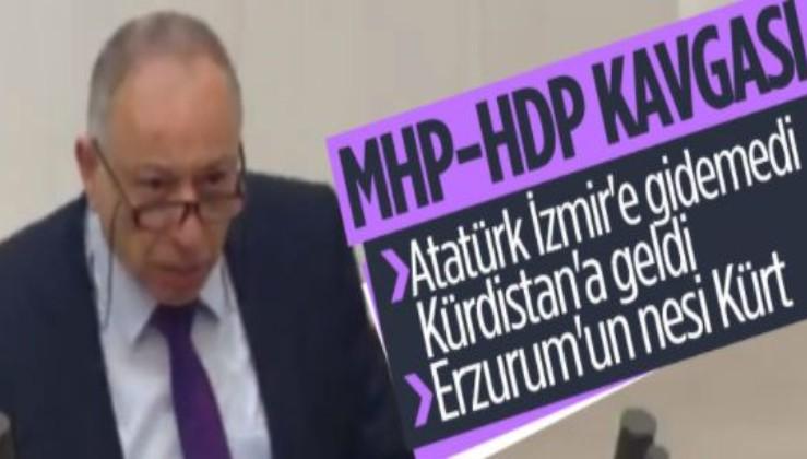 HDPKK'lı vekilden alçak sözler, Atatürk'e saldırdı, CHP'liler sustu, MHP'lilerden büyük tepki geldi