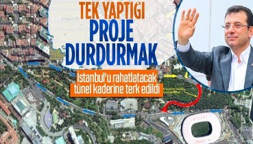 İBB yönetimi 70 dakikalık mesafeyi 5 dakikaya düşürecek Levazım-Dolmabahçe Tüneli çalışmalarını durdurdu!