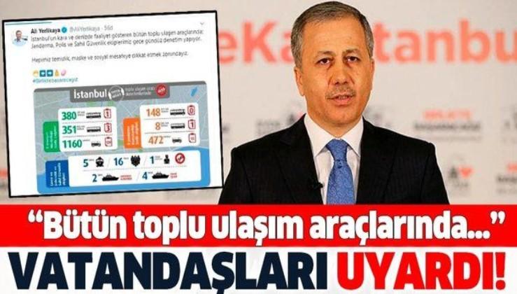 İstanbul Valisi Ali Yerlikaya'dan vatandaşlara önemli uyarı