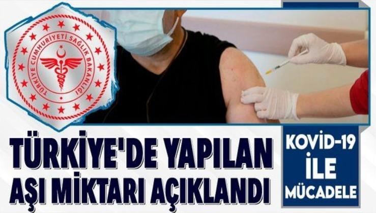 Son dakika! Koronavirüse karşı Türkiye'de yapılan aşı miktarı açıklandı