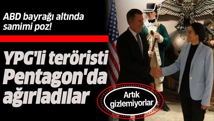 ABD'de bir skandal buluşma daha! YPG'li terörist İlham Ahmed'i Pentagon'da ağırladılar.
