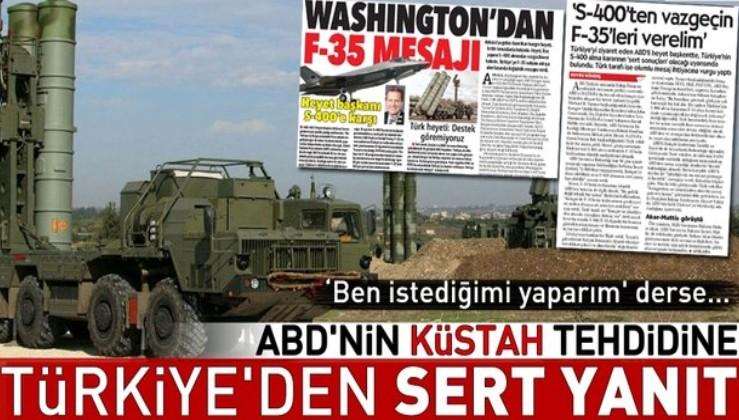 Çavuşoğlu'ndan ABD'nin 'S-400'den vazgeçin' tehdidine yanıt!