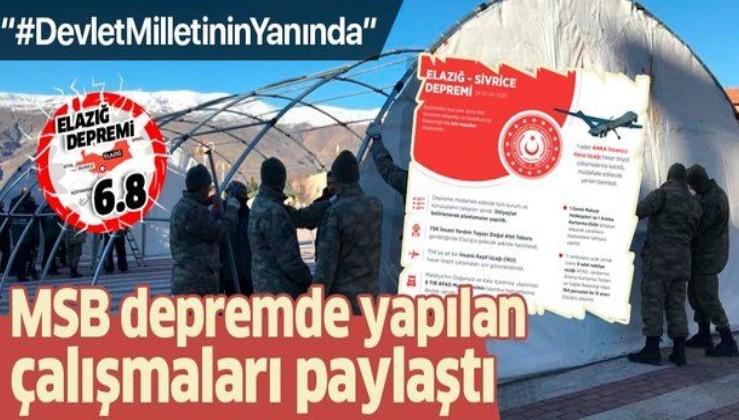 Elazığ ve Malatya depreminde yapılan çalışmalar hakkında açıklama.