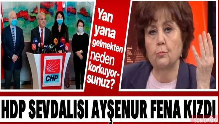 Halk TV sunucusu Ayşenur Arslan'dan CHP'ye HDP tepkisi: Yan yana gelmekten neden korkuyorsunuz?