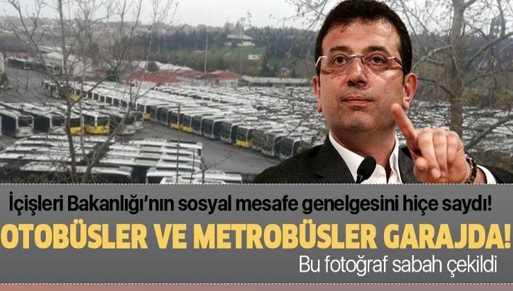 Vatandaşlar yoğunluktan şikayetçiyken İBB otobüs ve metrobüsleri İETT Garajı'nda bekletiyor!.