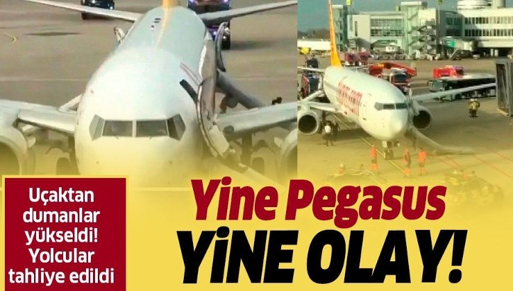 Yine Pegasus yine olay! Düsseldorf'a giden uçakta yangın paniği yaşandı.