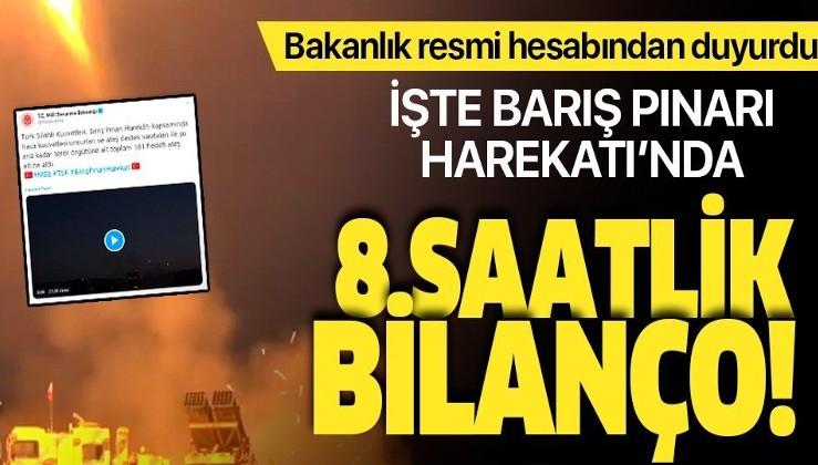 MSB'den Barış Pınarı Harekatı açıklaması: 181 hedef ateş altına alındı.