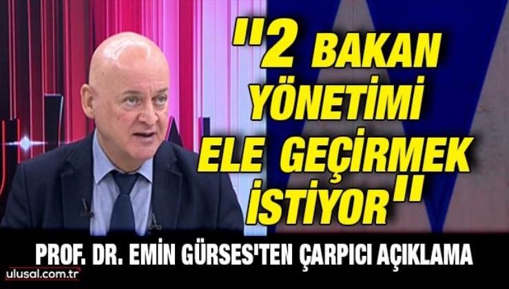 Prof. Emin Gürses'ten gündemi sarsacak sözler: Erdoğan'a Ak Parti içinden kumpas kurulacak!