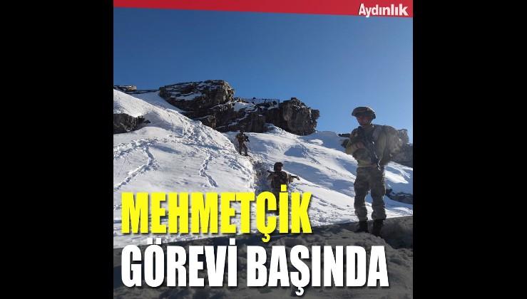 Mehmetçik zorlu hava koşullarına rağmen görevi başında