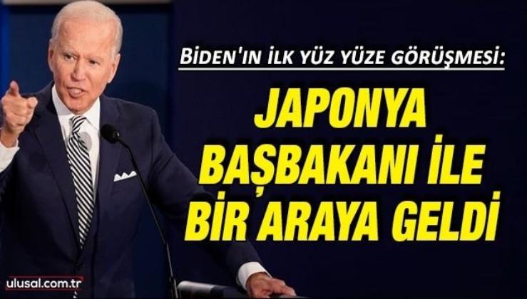 Biden'ın ilk yüz yüze görüşmesi: Japonya Başbakanı ile bir araya geldi