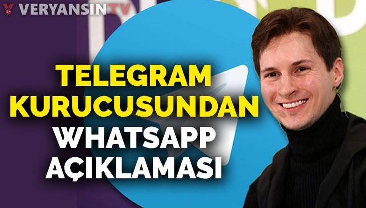 Telegram'ın kurucusundan 'Whatsapp' açıklaması