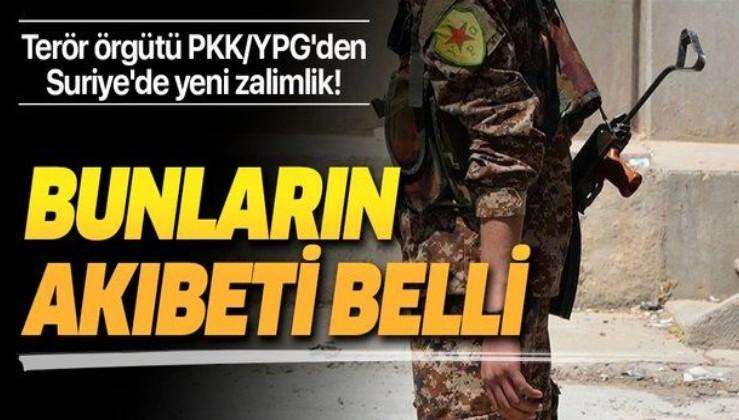 Suriye'de terör örgütü PKK/YPG, karşıt sesleri bastırmak için sivilleri esir aldı