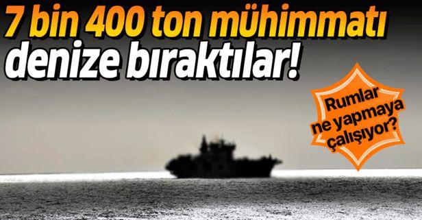 Kıbrıs Rum yönetiminin denize bıraktığı mühimmat güvenliği tehdit ediyor.