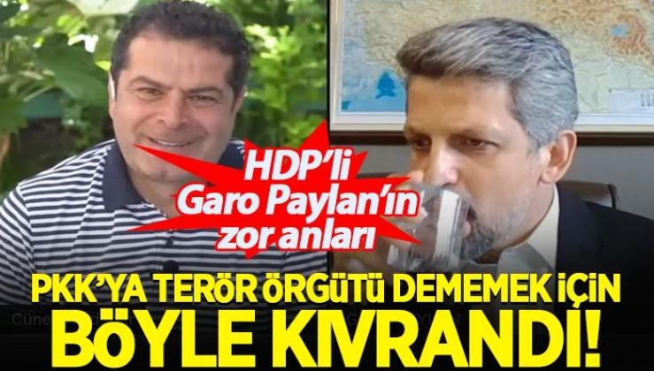 HDP'li Garo Paylan'a 3 kez aynı soru soruluyor;