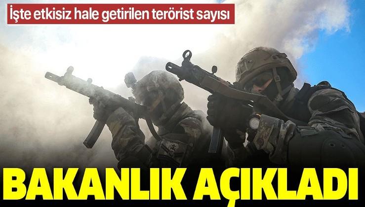 MSB açıkladı: İşte Pençe operasyonlarında etkisiz hale getirilen terörist sayısı