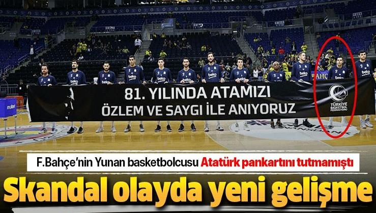 Atatürk pankartını tutmayan Sloukas ile ilgili Fenerbahçe'den flaş karar