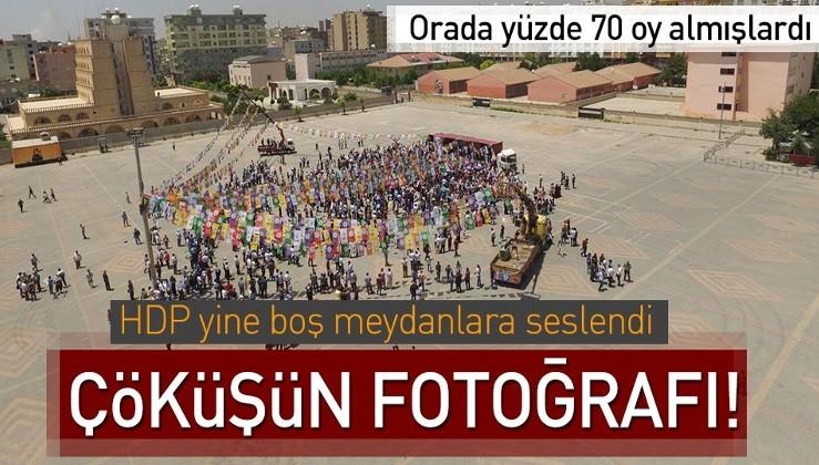 HDP'nin mitingleri boş kaldı.