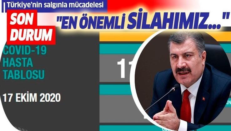 Son dakika: Sağlık Bakanı Fahrettin Koca 17 Ekim koronavirüs sayılarını duyurdu | Koronavirüste son durum