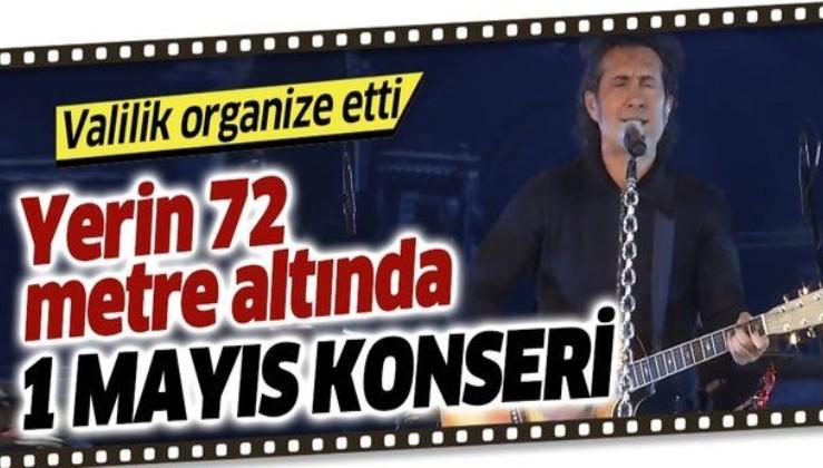 Ünlü sanatçı Kıraç'tan yerin 72 metre altında 1 Mayıs konseri