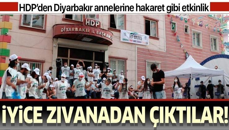 HDP'lilerden Diyarbakır annelerine hakaret gibi etkinlik!