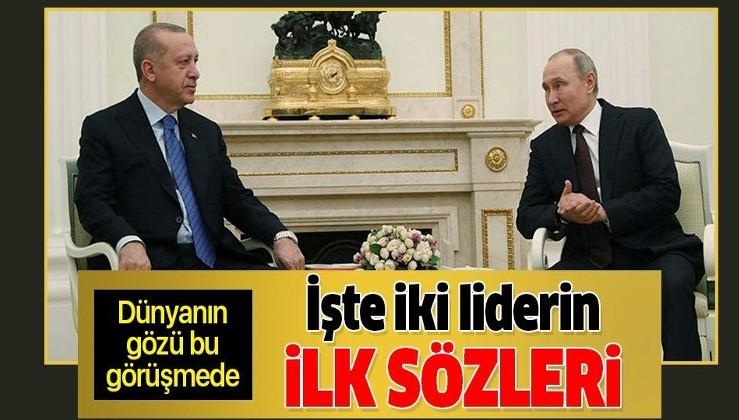 Putin ile Erdoğan'dan Moskova'da İdlib zirvesi: 'Alacağımız kararlar bölgeyi rahatlatacak'