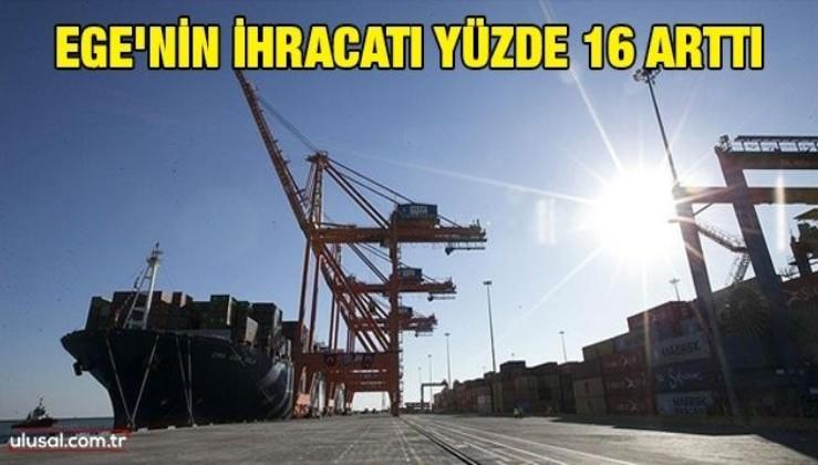 Ege'nin ihracatı yüzde 16 arttı