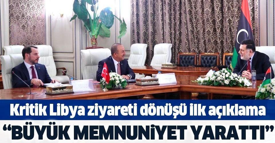 Son dakika: Kritik Libya ziyareti dönüşü Dışişleri Bakanı Mevlüt Çavuşoğlu'ndan açıklama