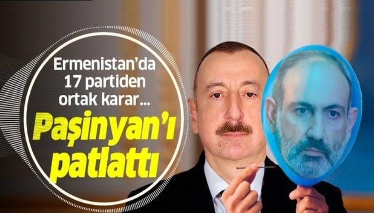 Azerbaycan'ın zaferleri ağır geldi! Ermenistan'da muhalif partiler Paşinyan'ın istifasını istedi